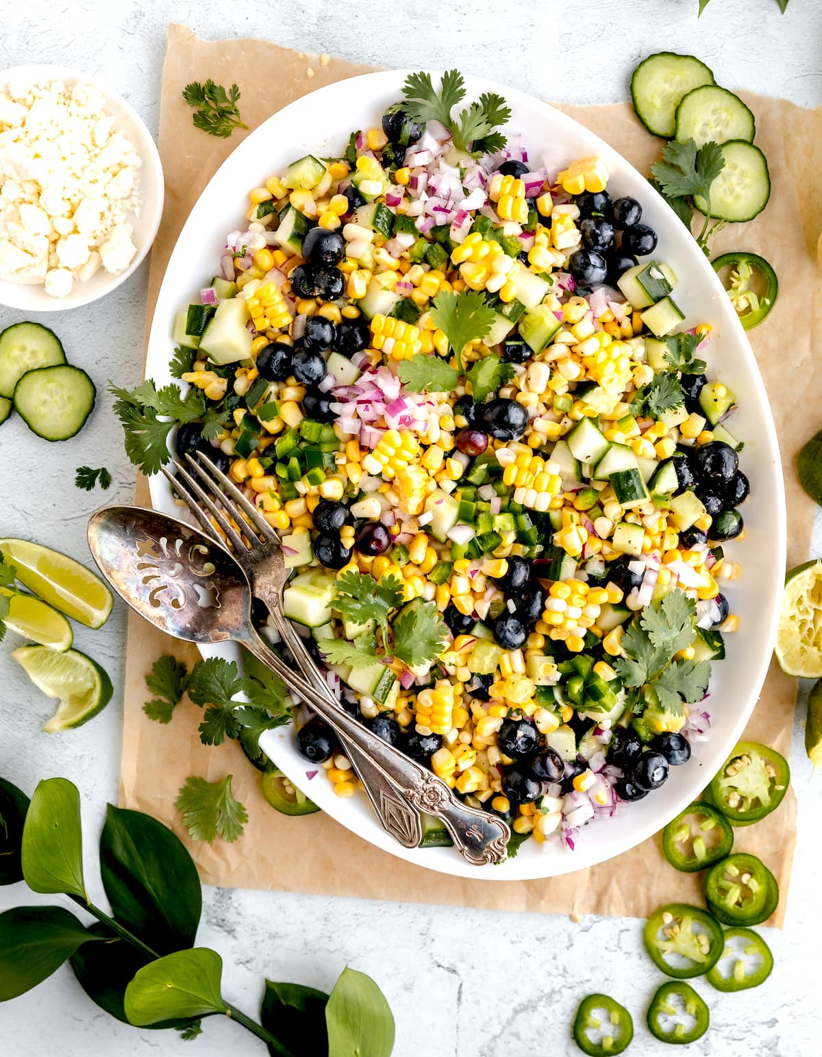 Fresh Corn Salad {With Blueberries!} - Two Peas & Their Pod