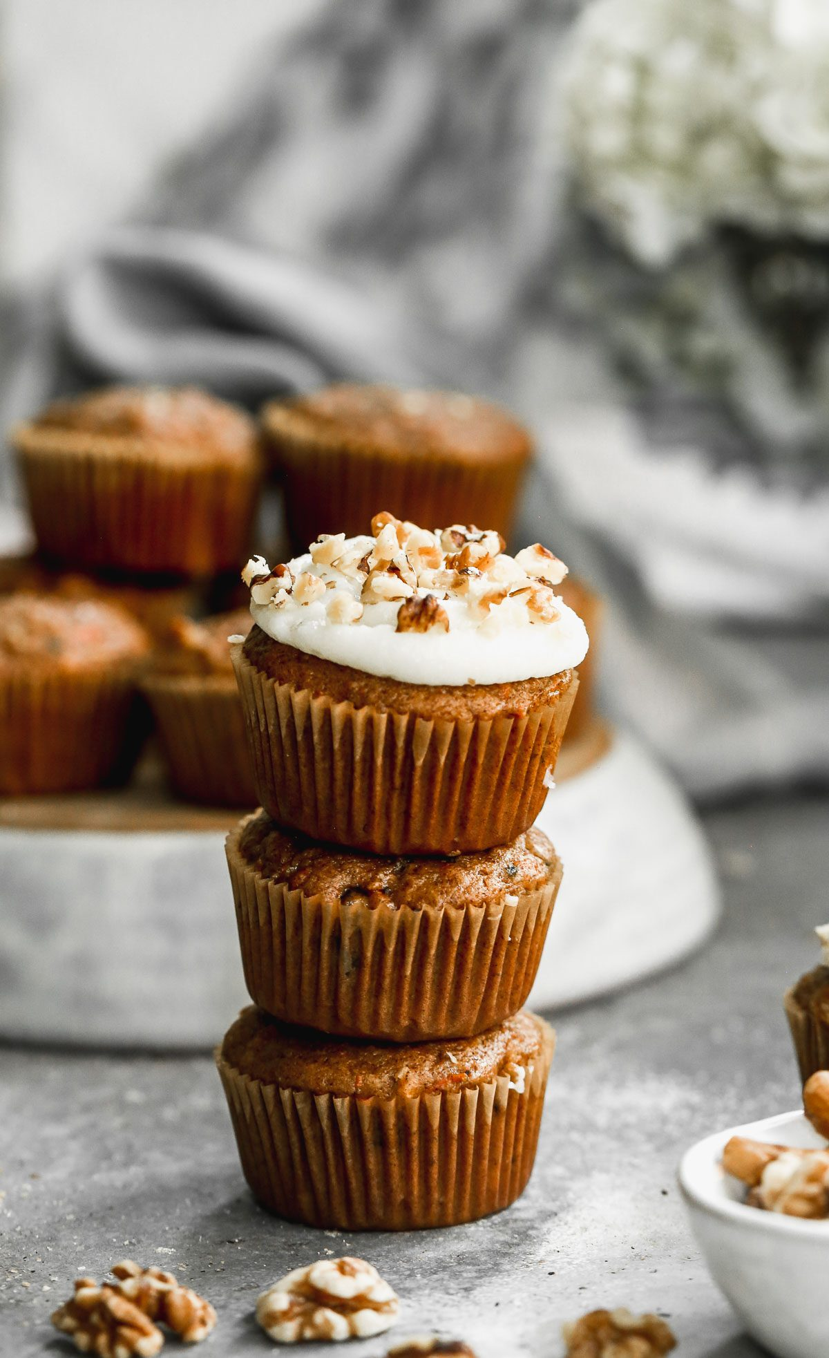 Carrot Cake Cupcakes {with Cream Cheese Frosting} - WellPlated.com